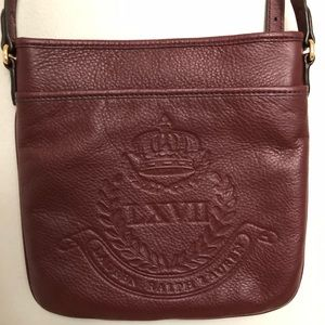 Ralph Lauren Embossed Red Crossbody Bag